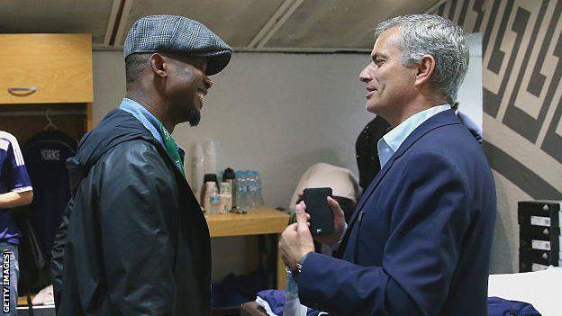 Samuel Eto'o et Jose Mourinho