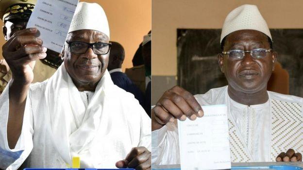 Le président sortant et son rival Soumeila Cissé