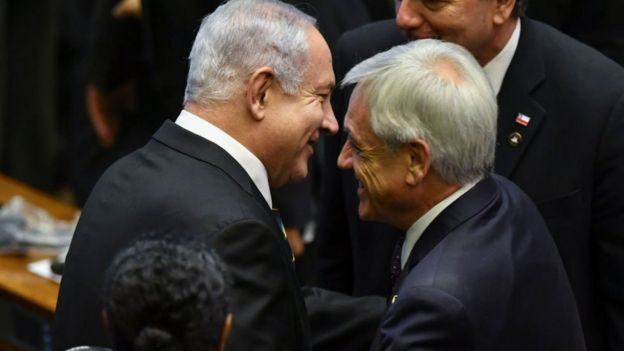 Benjamín Netanyahu y Sebastián Piñera
