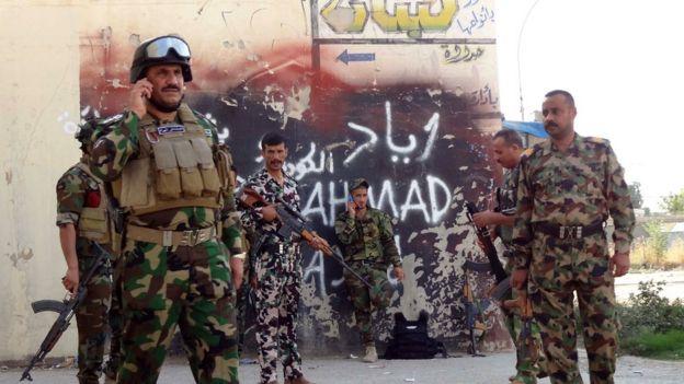 Kerkük'teki Irak güçleri