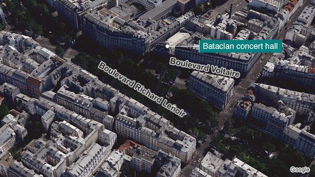 Bataclan aerial image