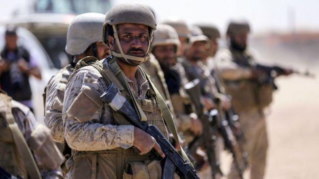 Saudi soldiers in Yemen.