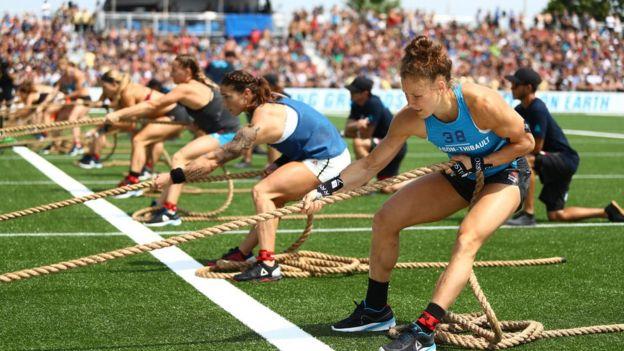 Atletas durante los CrossFit Games