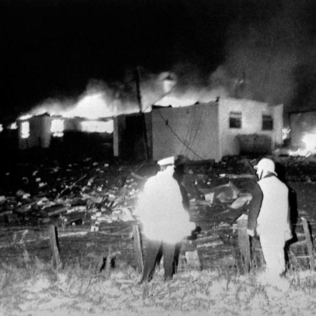 Sherwood Crescent destruida.