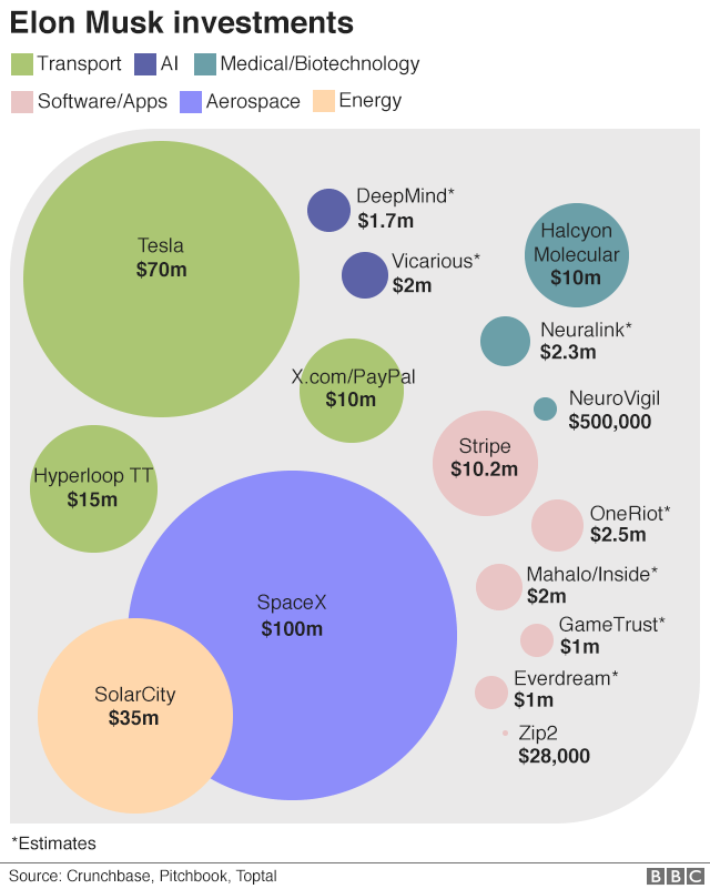 Elon Musk investments