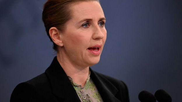 La primera ministra de Dinamarca, Mette Frederikssen.