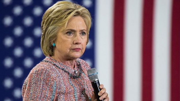 Hillary Clinton durante la campaña presidencial de 2016.