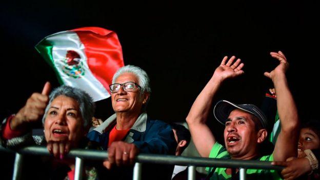 Andrés Manuel López Obrador'un destekçileri