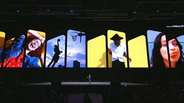 Samsung's MWC press conference