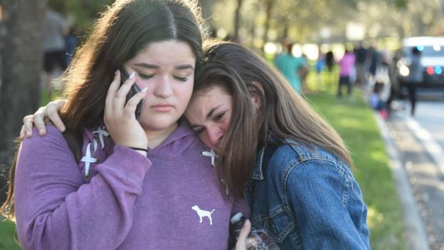 Jóvenes sobrevivientes del tiroteo de Parkland, Florida, el 14 de febrero de 2018