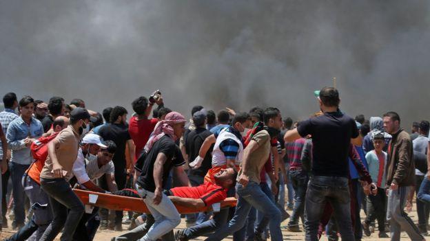 أصيب الآلاف في المظاهرات في قطاع غزة