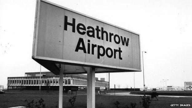 Heathrow Airport sign 1978