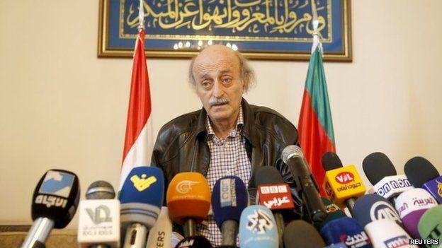Lebanese Druze leader Walid Jumblatt (12 June 2015)