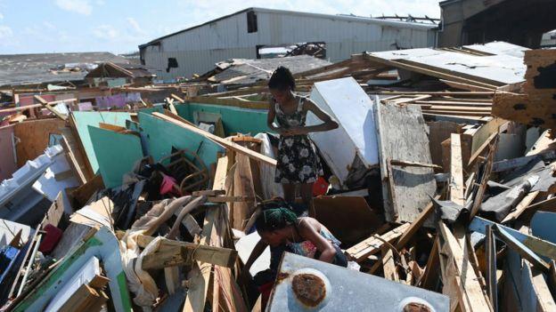 Huracán en Bahamas