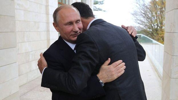 Esad, 21 Kasım 2017'de Soçi'ye giderek Putin'le görüşmüştü
