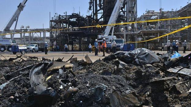 La planta de procesamiento de petróleo Khurais de Arabia Saudita
