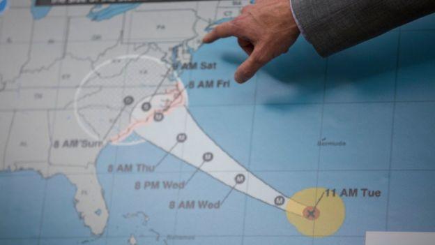 Trayectoria del huracán Florence
