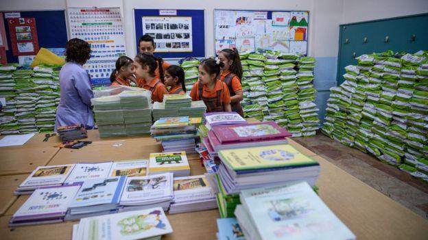 Türkiye'de bir okuldaki öğrenciler
