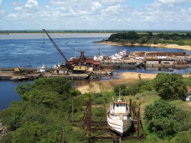 Puerto Ferrominero en Ciudad. Guayana.