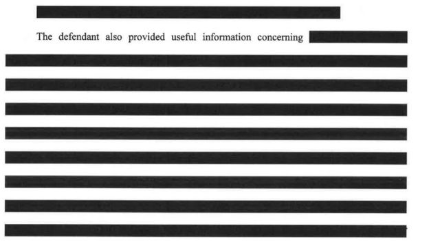 Redacted document released by Special Counsel Robert Mueller's office
