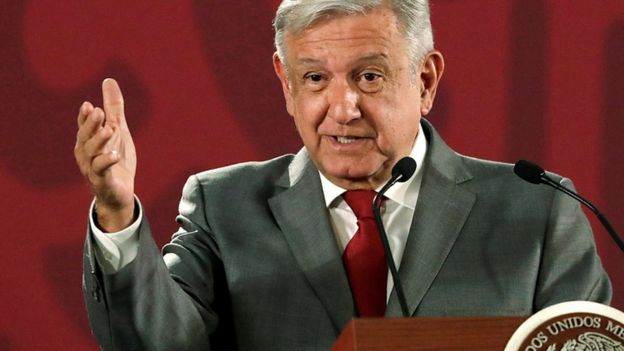 Mexico's President Andres Manuel Lopez Obrador speaks to a news conference at the National Palace in Mexico City, Mexico, May 31, 2019