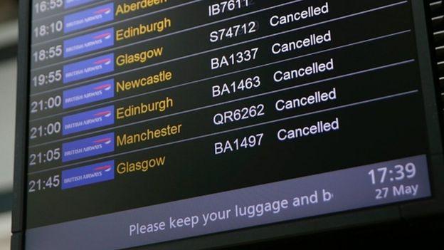 Flights cancelled at Heathrow
