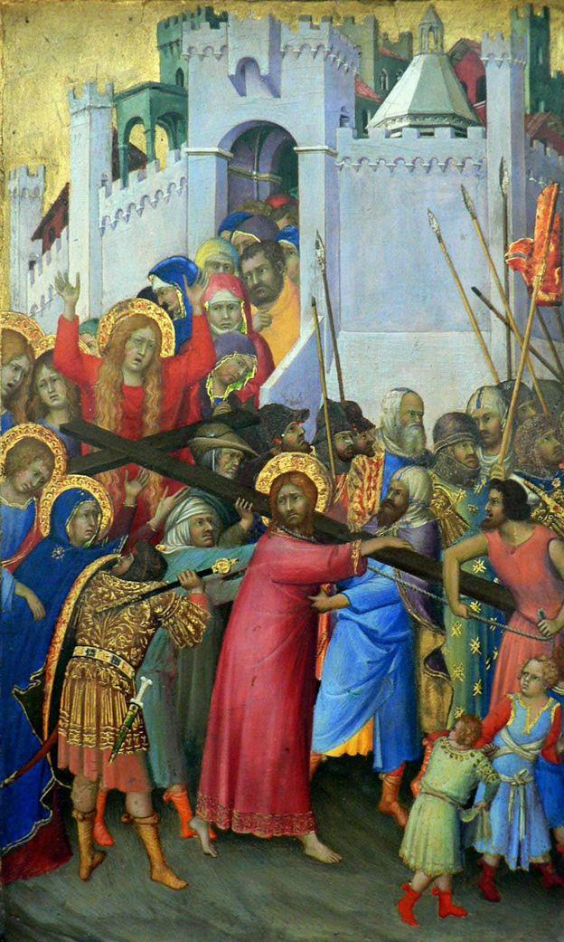 意大利画家西蒙尼·马蒂尼(Simone Martini )1335年创作的《背负十字架》