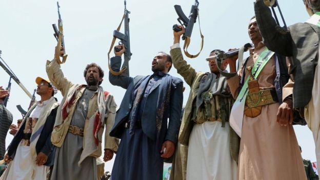 شورشیان مسلح حوثی مسئولیت برقراری نظم در این مراسم را برعهده داشتند.
