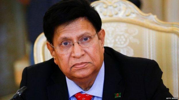 बांग्लादेश के विदेश मंत्री डॉ. एके अब्दुल मोमेन