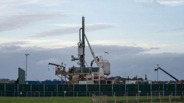 Maquinaria para hacer fracking