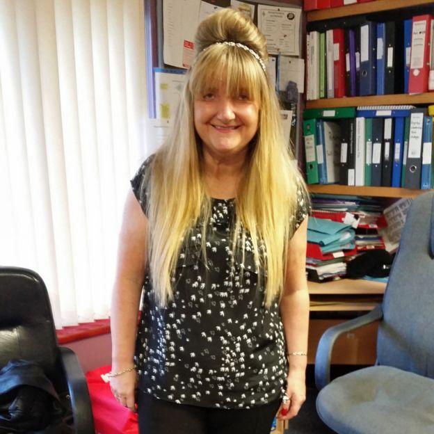 Rachel Burns en su oficina en 2015