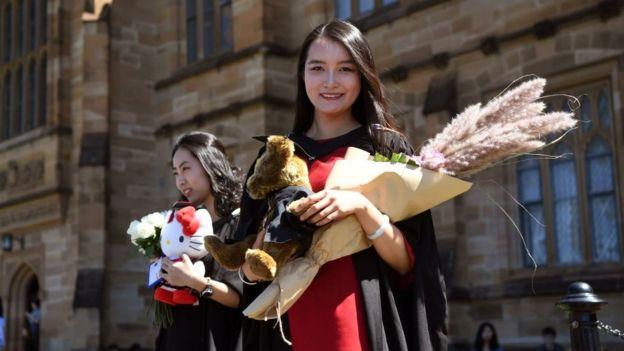 Estudiantes chinas en Australia