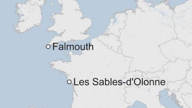 Map Of France Vendee Region.Sailor Robin Davie Missing At Sea After Leaving France For Falmouth