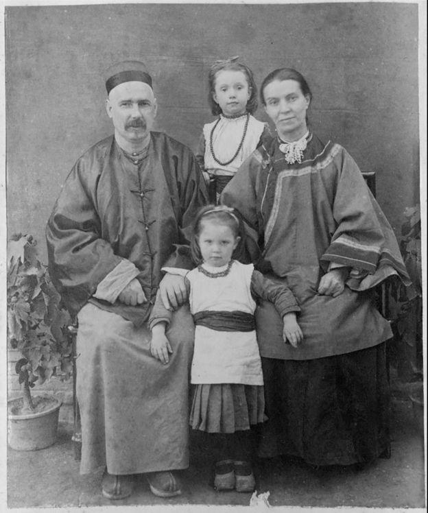 李提摩太全家1887年在山西
