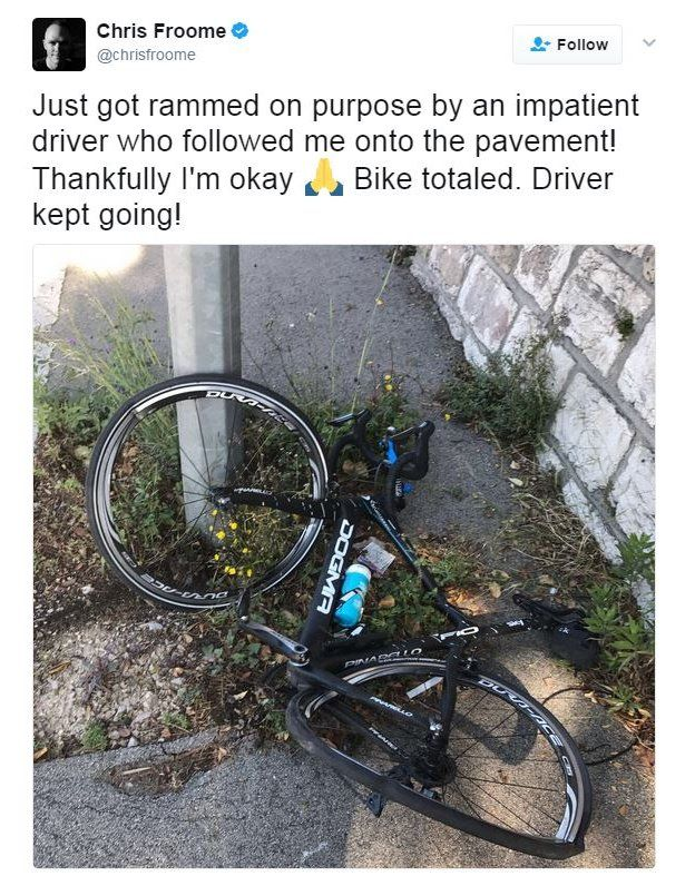 Chris Froome on Twitter