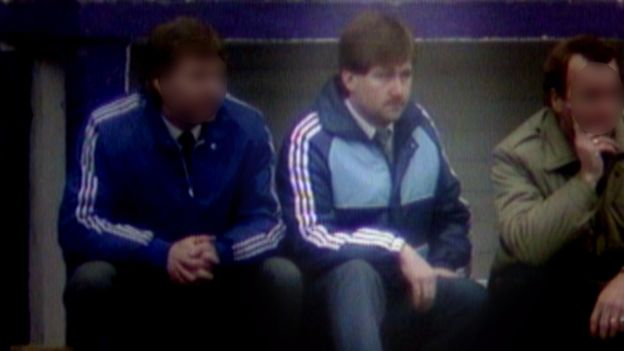 Gordon Neely in the Hibs dugout