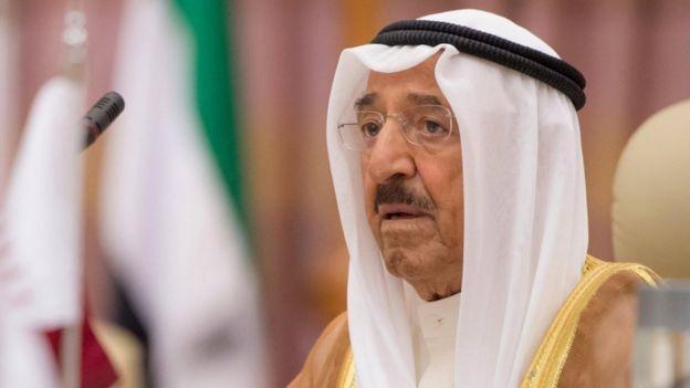 سافر الشيخ صباح الأحمد الجابر الصباح إلى قطر الأربعاء لمقابلة الشيخ تميم بن حمد آل ثاني أمير قطر