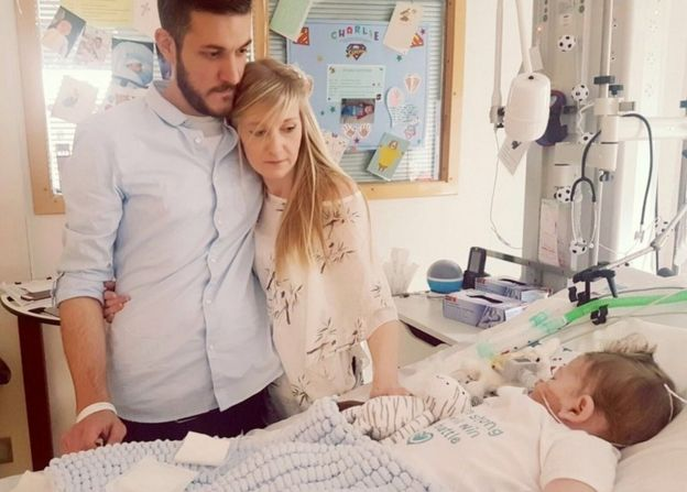 Chris Gard and Connie Yates with their son Charlie Gard