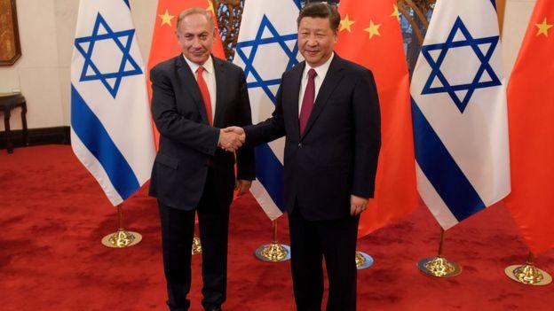 Xi Jinping and Benjamin Netanyahu.