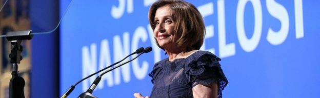 Nancy Pelosi during the Robert F Kennedy Human Rights Auction on December 12, 2019 in New York City