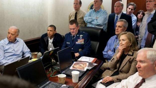 奧巴馬總統就是在白宮戰情室觀看美軍獵殺本·拉登的行動過程的。