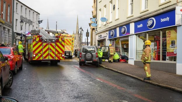 65a9a2c931c94 The NI Ambulance Service (NIAS) said five people had been taken to the South
