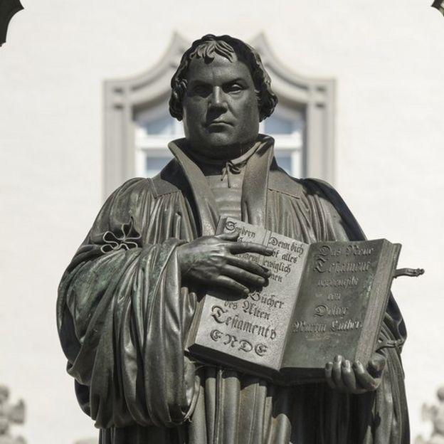 Monumento a Martín Lutero en Alemania.