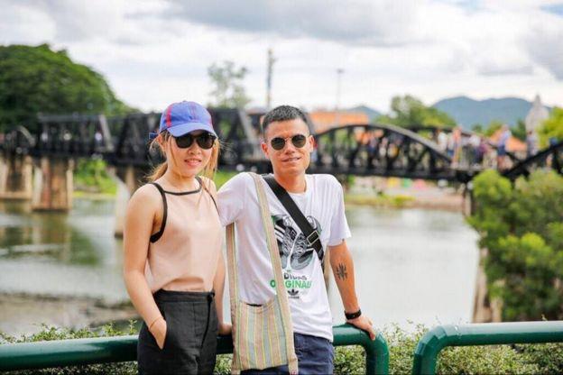 Lao động Việt Nguyễn Quỳnh và người vợ Thái giờ đang nghỉ hè bất đắc dĩ