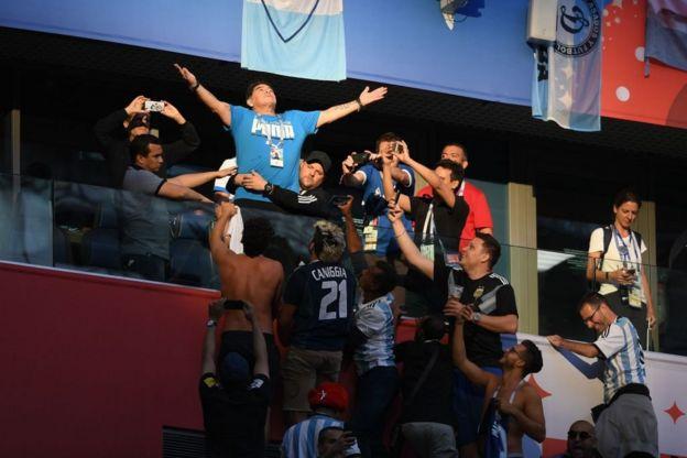 La adoración por Diego Armando Maradona.