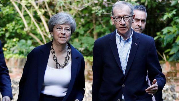 Theresa May eşi Philip ile birlikte kiliseye gitti
