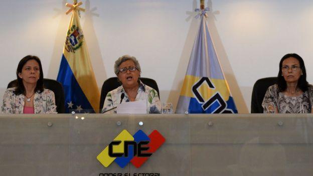 Rectoras del CNE.