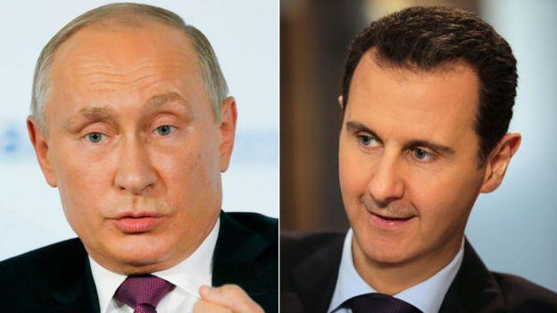 Russian President Vladimir Putin and Syrian President Bashar al-Assad