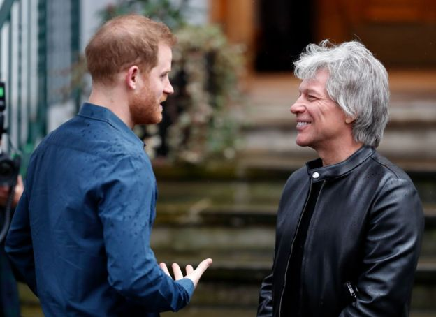 Prince Harry and Bon Jovi