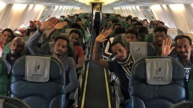 66 migrants sont arrivés au Rwanda